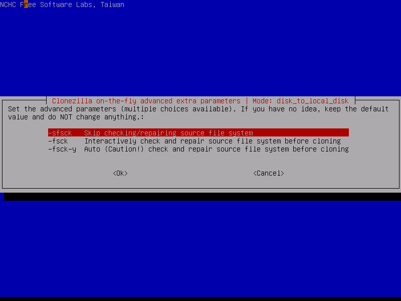 Disk to disk clone