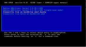 clonezilla bootable hard drive